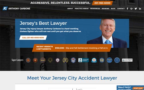 Law Offices of Anthony Carbone Laptop Screenshot
