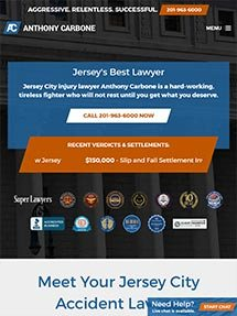 Law Offices of Anthony Carbone Tablet Screenshot
